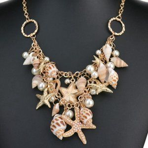 Shell and Starfish Necklace